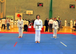 (Click to Enlarge) Patrick, Edward & William, preparing for the Team Kata, June 2016
