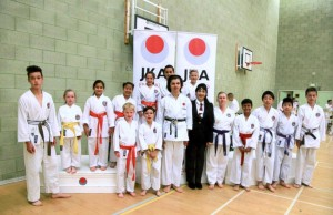 Sensei Shahinaz  Pelter, Referee, with Bromley & South East London JKA Karate Club Squad at the National Championships, June 2016.