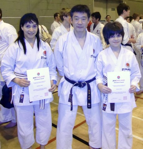 With Sensei Ohta After Receiving The All Courses Attendance Certificate in 2012