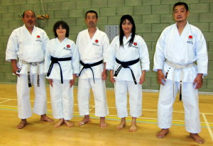 Sensei Shahinaz Pelter & Patrick Pelter with Sensei Osaka (8th Dan), Sensei Hanzaki (7th Dan) & Sensei Takahashi (6th Dan), JKAE Spring International Course, 201