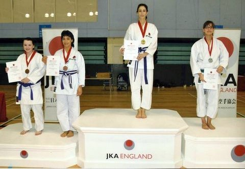 Sensei Shahinaz ,Bronze Medal in Kata a& Kumite in 2010