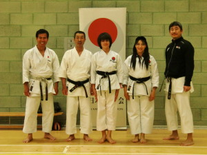 Senei Shahinaz Pelter & Patrick Pelter with Sensei Osaka(8th Dan), Sensei Okuma(6th Dan) & Sensei Nagatomo(6th Dan) in the Spring International Course 2014