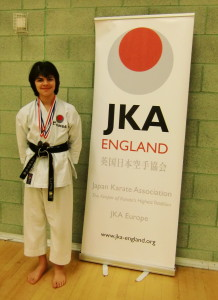 Many Congratulations to Patrick Pelter on Wining a Gold Medal in Kata & Bronze Medal in Kumite in the Interclub Competition in Lewisham on 28th April 2014. Well Done Patrick!