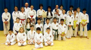 (Click to Enlarge) Sensei Shahinaz & Patrick with some of Bromley & South East London JKA Karate Club celebrating their club receiving the JKAE Club of the Year Certificate! Many Congratulations & thank you to all the students!