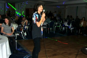 (Click to Enlarge) Karaoke Night at the JKA England International Course. Great Fun !