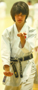 (Click to Enlarge)Patrick Pelter performing Empi at the JKA England International Course, May 2015.