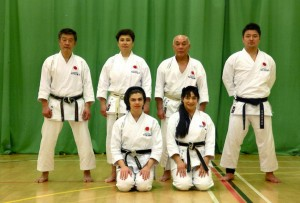 (Click to Enlarge) Sensei Shahinaz Pelter & Patrick Pelter with Sensei Otah(7th Dan), Sensei Hirayama(6th Dan), Sensei Kawawada(8th Dan) & Sensei Nemoto (5th Dan), The Spring International Course May 2016.