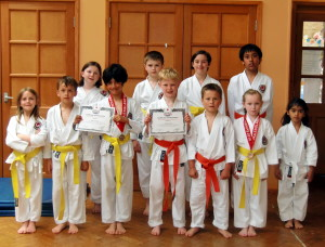 (Click to Enlarge) More members from Bromley & South East London JKA Karate Club celebrating our Club Success.