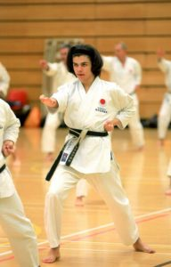 JKA ENGLAND INTERNATIONAL COURSE, SEPTEMBRE 2016. Patrick Pelter has chosen Chinte to study and practice during the course.