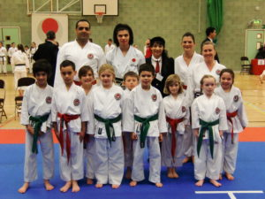 Sensei Shahinaz Pelter with Bromley & South East London JKA Karate Club super team: Wasiq, Patrick, Nicola, Vicky, Aroa, Jessica, Charlotte, James, Aidyn, Abi Lily, Kasim & Talvin. JKA Open Championships, 19th November 2016. MANY CONGRATULATIONS & WELL DONE!!!!