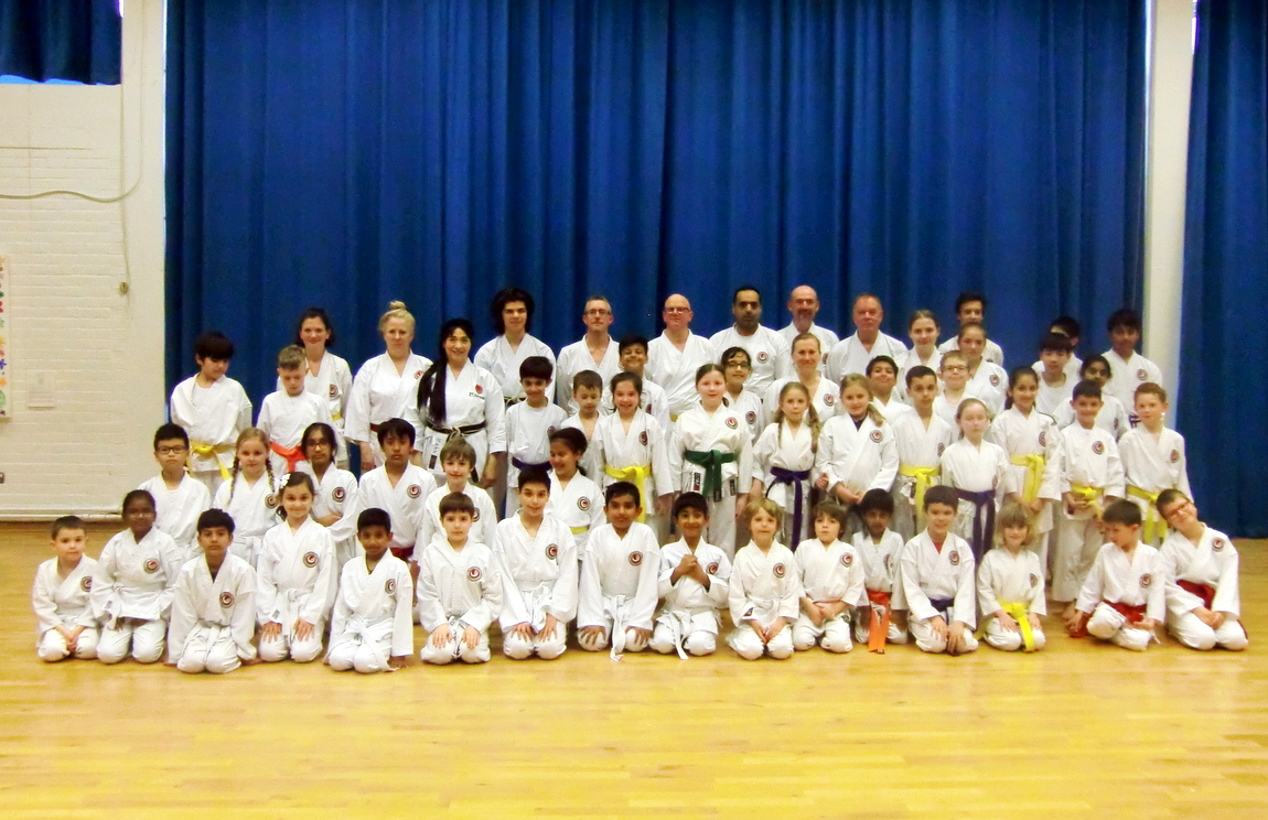 (Click to Enlarge) MANY CONGRATULATIONS to all those who graded or just attended the great training session with the Examiner Sensei Dobson (4th Dan) which was attended by 60 members. WELL DONE EVERYONE!! Sensei Shahinaz & Junior Instructor Patrick are both very proud of all those who attended. GREAT ATTITUDE, FANTASTIC PERFORMANCE & BRILLIANT RESULTS