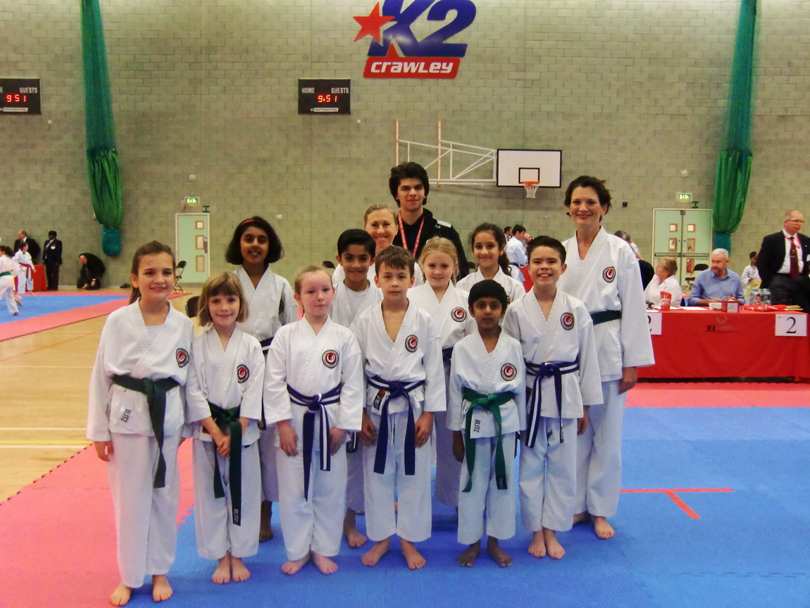 (Click to Enlarge) Bromley & south East London JKA Karate Club Squad just before the competition, November 2017.