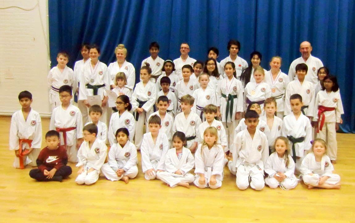 Great Spirit & Wonderful Support!! Bromley & South East London JKA Karate Club celebrating the club fantastic results at the The Four Nations Competition!!!